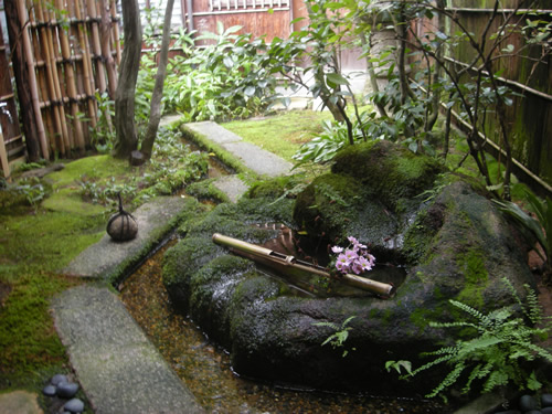 Tea garden in samurai house japanese garden for Building a japanese garden in your backyard